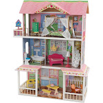KidKraft Sweet Savannah Wooden Pretend Play House Doll Dollhouse with Furniture by VM Express