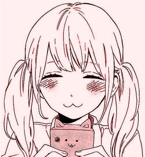 aesthetic anime art cat cute girl illustration