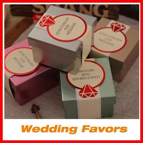 Wholesale Wedding Favor Boxes Candy Metal Containern