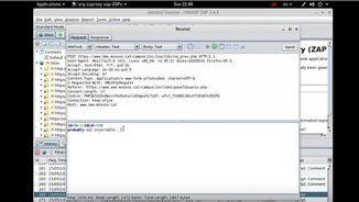 Captura del vídeo que mostra com es va dur a terme l'atac informàtic a la pàgina del Sindicat de Mossos d'Esquadra