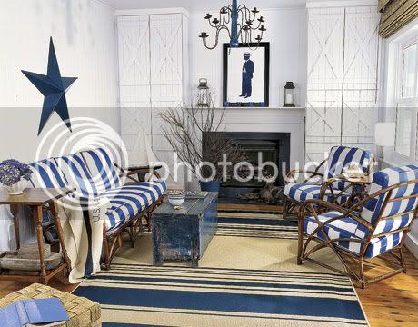 Nautical Living Room Interior Design Ideas
