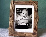 Driftwood Picture Frame 5 x 7 Curvy Brown Monochrome