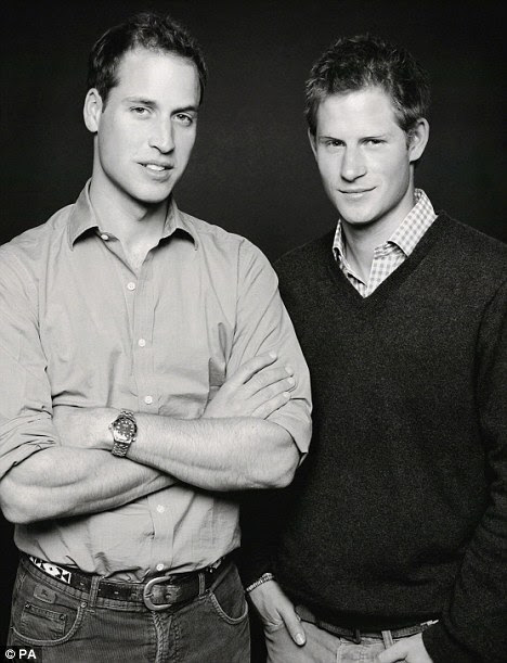 Nothing to do with the wedding but a great shot of the Princes.  Photo taken by Fergus Greer in 2006