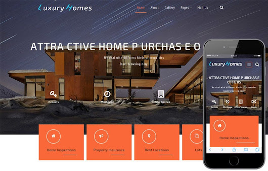 Luxury Homes a Real Estates Category Bootstrap Responsive Web Template