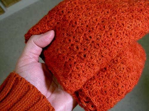 Malabrigo scarf, unblocked