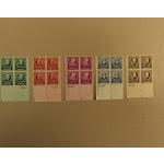 USPS Scott 869-73 American Educators Lot Of 5 1940 Plate Block 20 Stamps Mint NH -- New