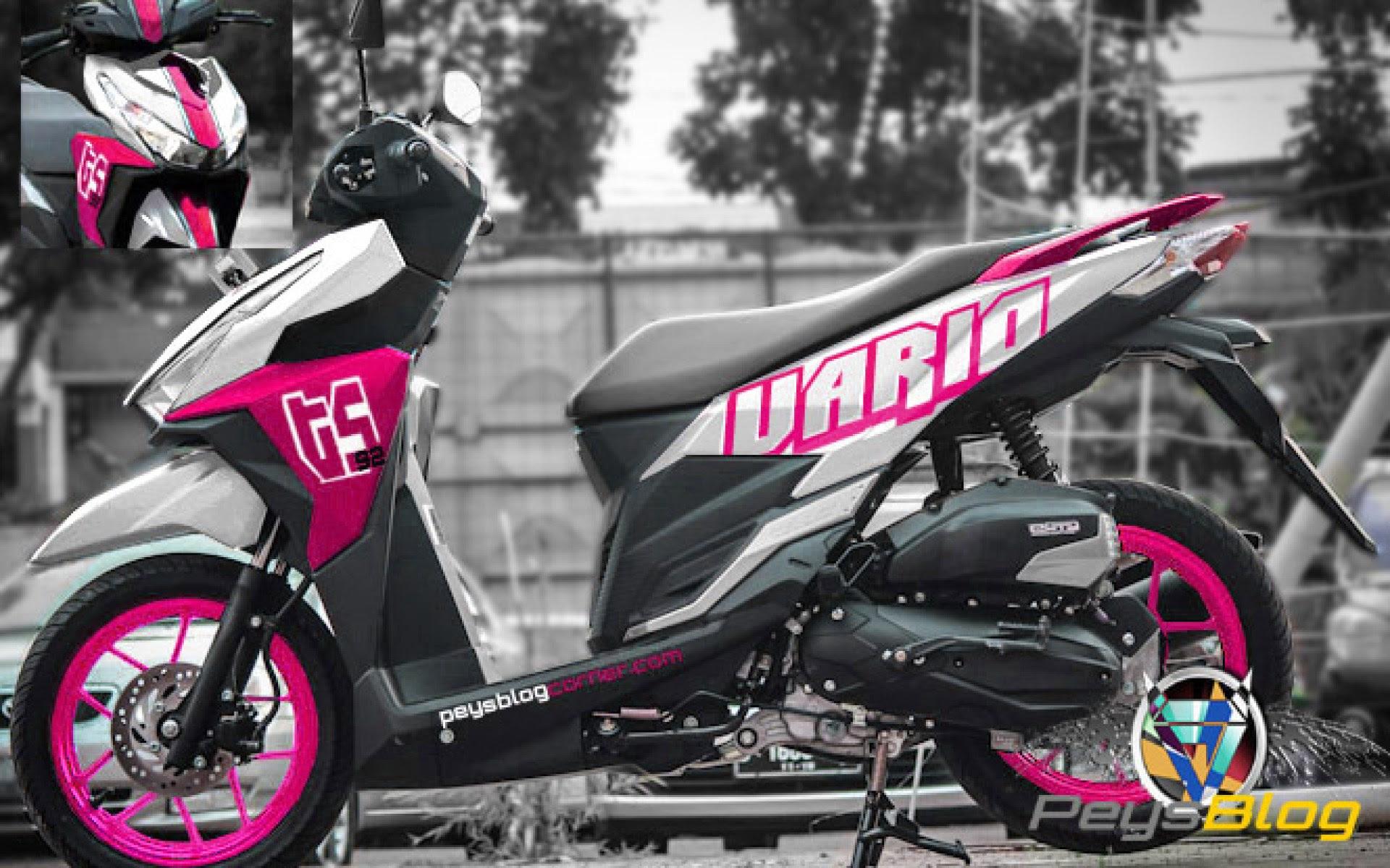 74 Gambar Modifikasi Motor Warna Pink Terbaru Kakashi Modifikasi