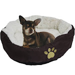 """Evelots Soft Pet Bed, for Cats & Dogs, 17""""D x 5""""H, Brown"""