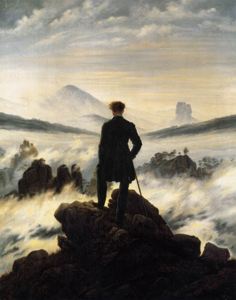 Wanderer above a Sea of Mist by Caspar David Friedrich