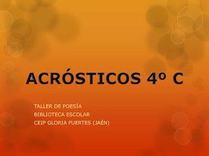 Acrósticos 4º C 2015-16