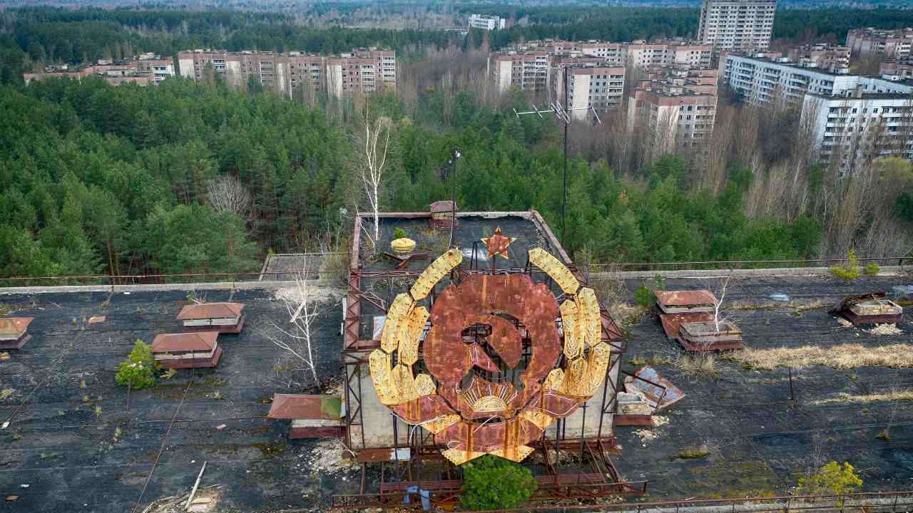 In 2011 Chernobyl was declared a tourist attraction and visitors are allowed to visit the site. The Chernobyl zone saw an increase in tourism after the release of a miniseries in 2019. The radiation level is low enough that tourists can visit safely and workers can carry on with their jobs of disposing of waste and tending to the sarcophagus. Permanent residence is still banned. Image credit: AP Photo/Efrem Lukatsky