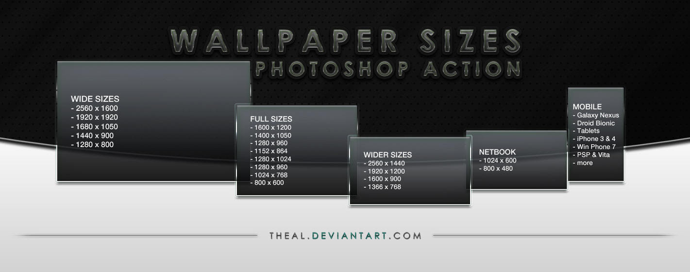 Wallpaper Sizes Photoshop Action by TheAL on DeviantArt