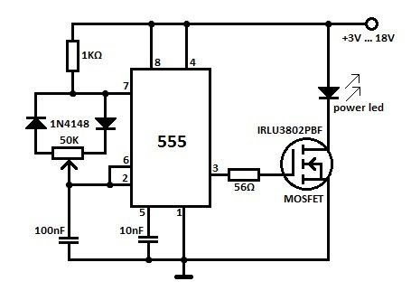high power led dimmer circuit