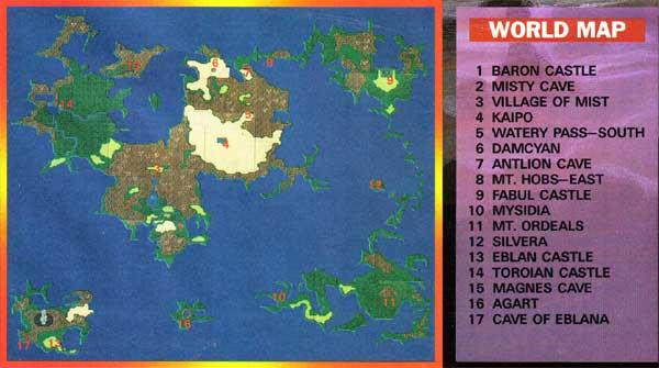 Beautiful Final Fantasy 2 World Map Pics - Printable Map - New ...