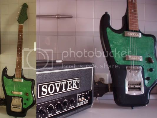 Tonika guitar and Sovtek amp - Russia's finest!