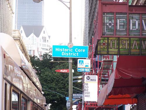 Historic Core neighborhood sign