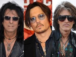 Alice Cooper, Johnny Depp e Joe Perry, do Hollywood Vampires (Foto: Divulgação)