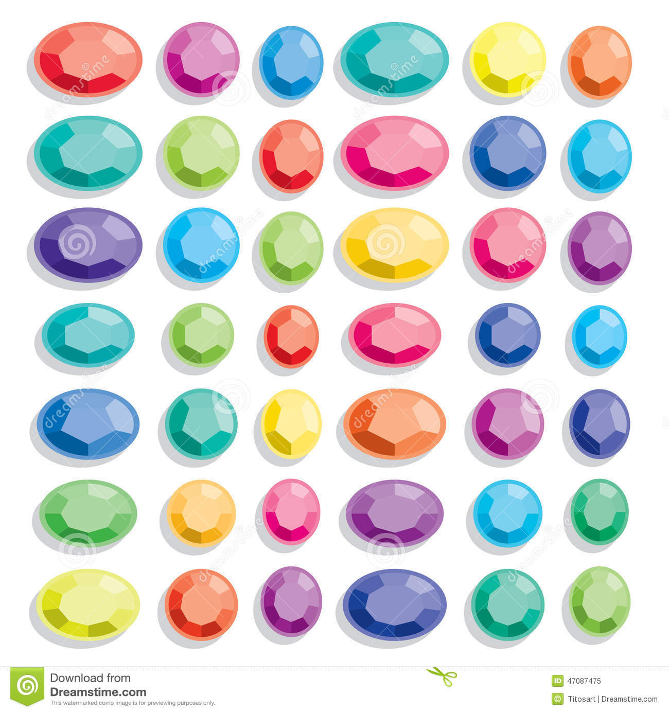 Gem Stock Vector - Image: 47087475