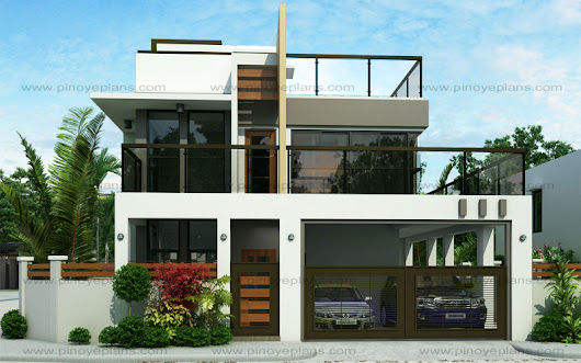 Ester – Four Bedroom Two Story Modern House Design (MHD-2015020)