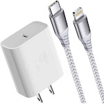 Boxgear iPhone 12 Pro Fast Charger (Apple MFI Certificate) for iPhone (Size: 6 ft)