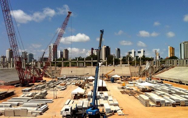 Arena das Dunas atinge 50% do cronograma de construção (Foto: Jocaff Souza/Globoesporte)