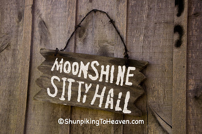 Sign on Outhouse at Moonshine Store, Clark County, Illinois