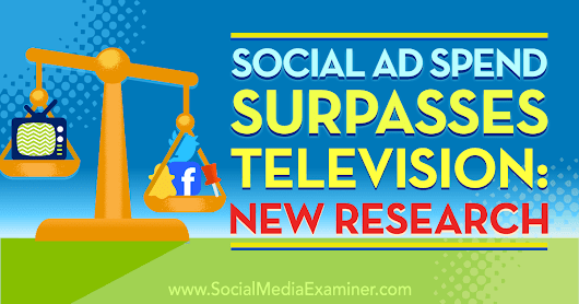 Social Ad Spend Surpasses Television: New Research : Social Media Examiner