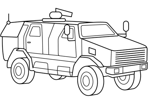 7600 Army Car Coloring Pages , Free HD Download