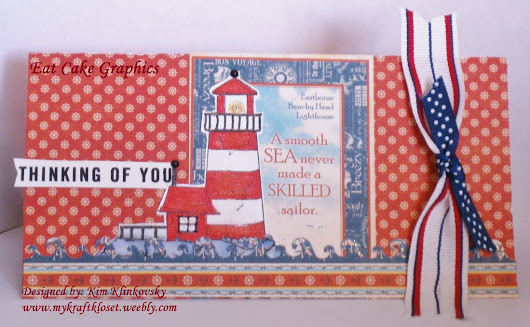 Patriotic G45 Lighthouse Card