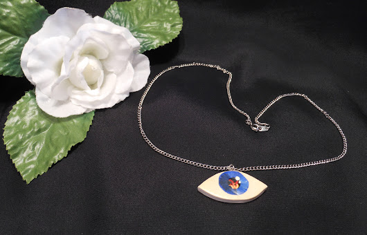 Sculpted and Hand Painted Eye Necklace | BrianaDragon Creations