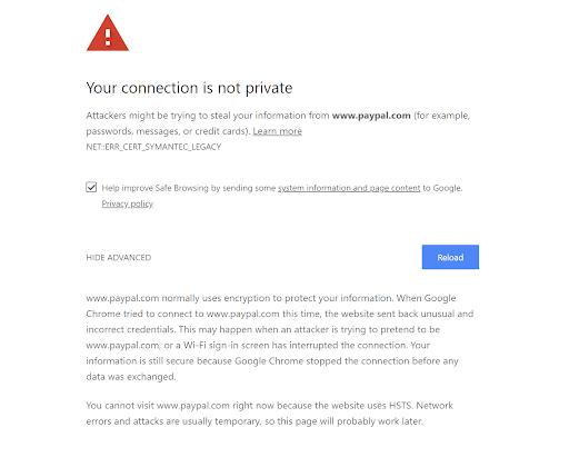 Как исправить ваше соединение не является частной ошибкой в Chrome (16 советов)
