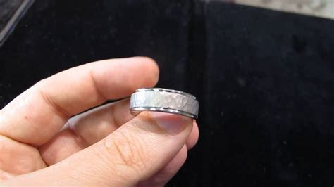 Hammered Platinum Mens Wedding Band in Los Angeles   YouTube