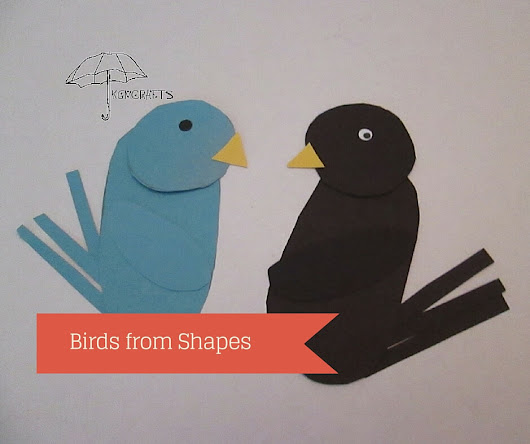 Paper Bird Craft for Kids