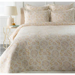 """Tiwari Home 92"""" Floral Design Light Gray and Yellow Full and Queen Bedding Set by Christmas Central"""