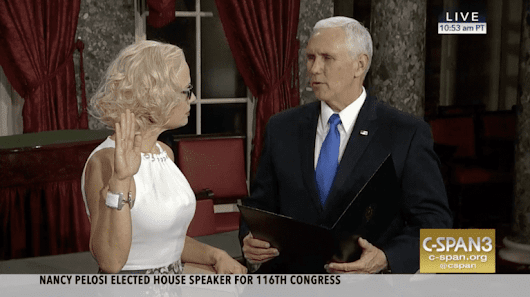 Sen. Kyrsten Sinema Took Her Oath of Office on a Lawbook, Not the Bible