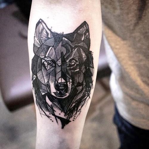 Lobo Estilo Geomtrico Tattoos And Art T Tatuajes Para