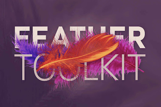 Feather Toolkit: 250+ Hi-Res Feather-Themed Photos, Backgrounds, Templates - only $10!