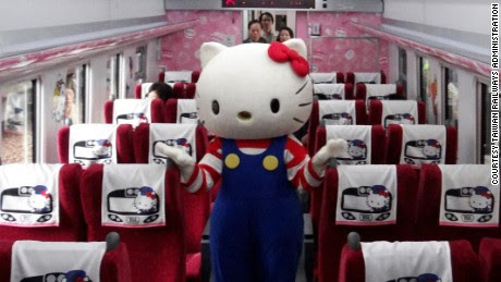 Hello Kitty-themed train launches in Taiwan