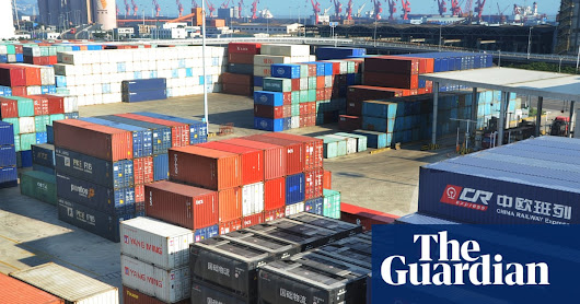 China trade surplus with US hits record $29bn high | Business | The Guardian