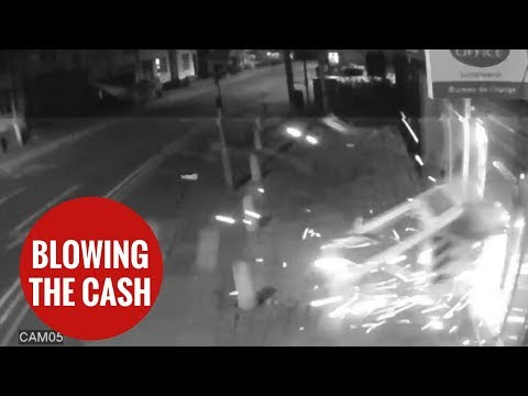 Watch thieves blow up cash machine in shocking... - Home Theater Installation Los Angeles