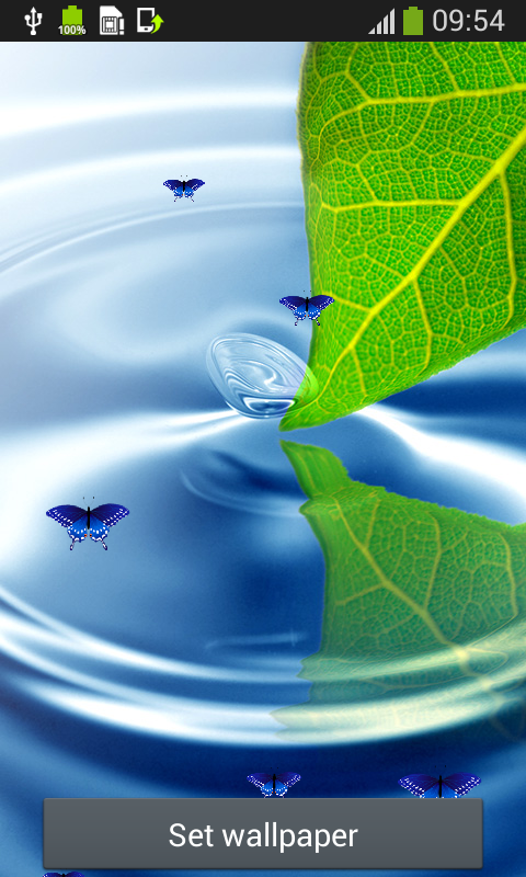 Water Live Wallpapers Top free android app  Android Freeware