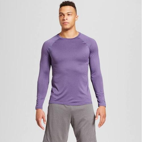 ae601130ea30 Google Express - Men s Long Sleeve Tech T-Shirt - C9 Champion Dusk ...