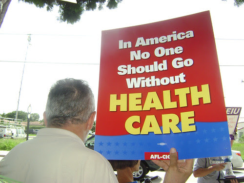 Health Care Rally for a Public Option in front of  Senator Bill Nelson´s Office
