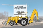 Heavy Equipment Front End Loader Backhoe Yard Art Woodworking Pattern - fee plans from WoodworkersWorkshop® Online Store - heavy equipment, Front End Loader with Backhoe,yard art,painting wood crafts,scrollsawing patterns,drawings,plywood,plywoodworking plans,woodworkers projects,workshop blueprints
