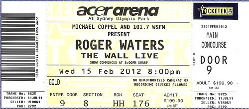The Wall ticket