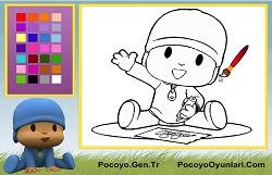 Ressam Pocoyo Boyama Oyunu Oyna Pocoyo Oyunları