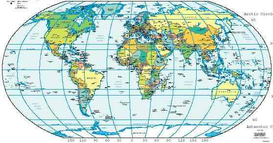 world map with equator additionally the equator is the only line of latitude which is also