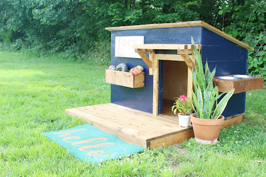 A New Home for Lucy--Modern DIY Dog House