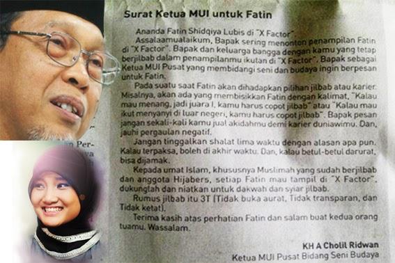 Basando Surat Ketua Mui Pusat Untuk Fatin Shidqia X Factor Indonesia