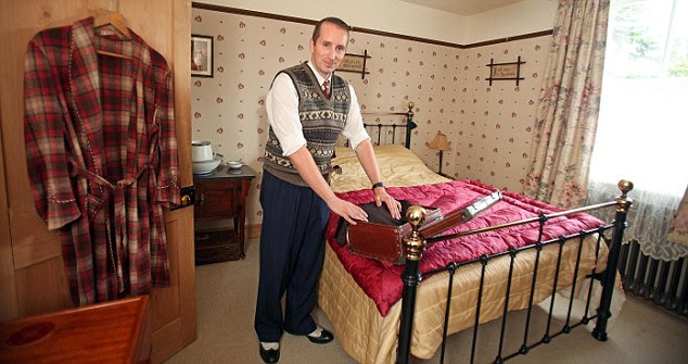 Sleep easy: Even in Ben's cosy bedroom, he's made sure every detail is perfect
